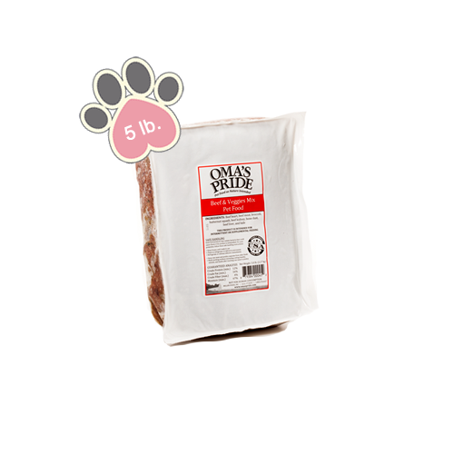 Omas Pride Beef and Veggie Mix - 5 lb