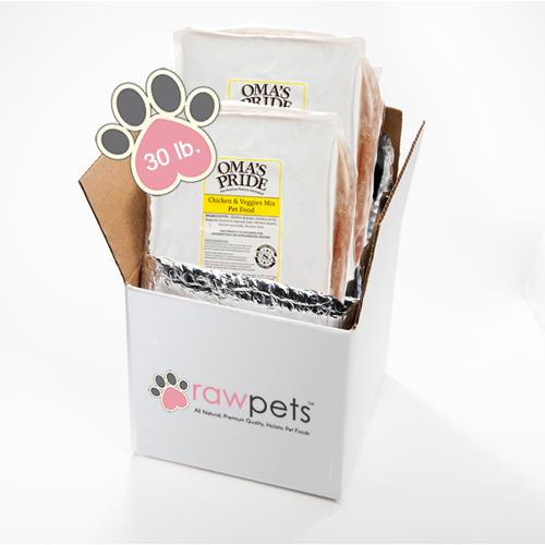 Omas Pride Chicken & Veggie Mix - 30 lb -10lb case