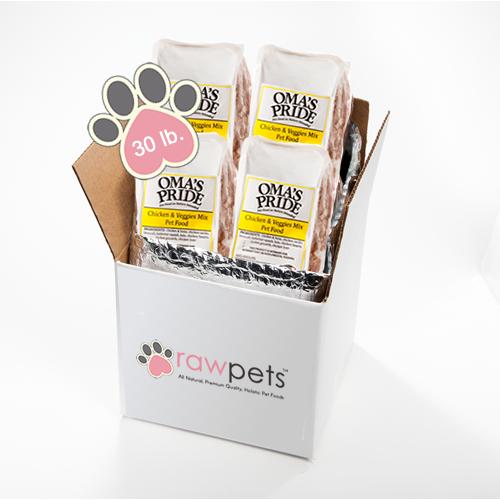 Omas Pride Chicken & Veggie Mix - 30 lb -2lb case