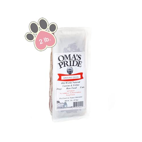 Omas Pride Ground Quail - 2lb