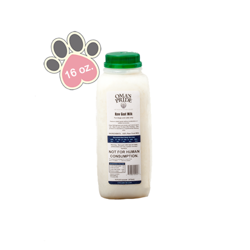 Oma's Pride Raw Goats Milk -16oz.