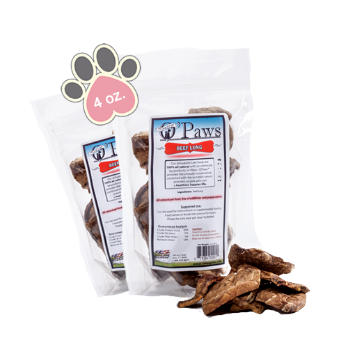 Opaws Beef Lung - 4oz
