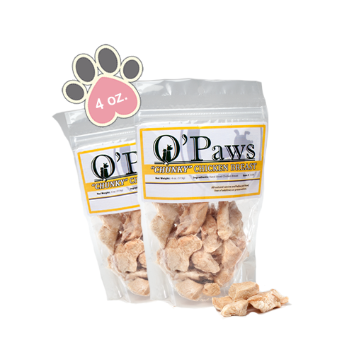 Opaws Chunky Chicken Breast - 4oz